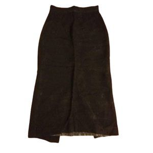 Vintage pencil skirt black jaquard